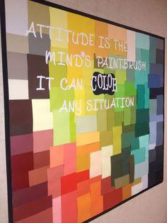 Great bulletin board idea.art teacher!! @Danielle Lampert Lampert Lampert Lampert Terrell
