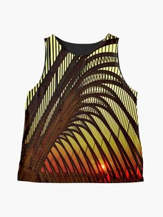 'Olympic sunset in Athens' Sleeveless Top by Hercules Milas