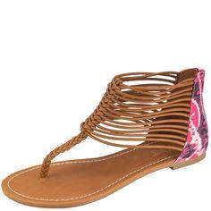d0bd3be98197 Womens Brash Siren Cord Flat Sandal Payless ShoeSource Braided Sandals