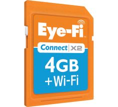 Eye-Fi Connect X2- this is soooo cool!  Lets you wirelessly transfer your photos right from your camera.  Can even be configured to upload directly to photo sharing sites like Fickr