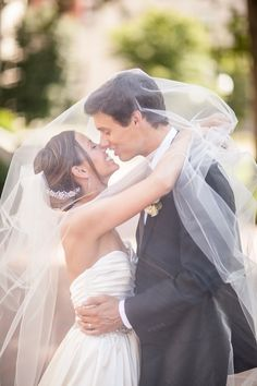 Love this picture of him in her veil!