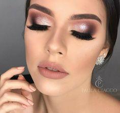 Amazing Wedding Makeup Tips – Makeup Design Ideas Bride Eye Makeup, Wedding Makeup Tips, Bridal Hair And Makeup, Prom Makeup, Wedding Hair And Makeup, Hair Makeup, Hair Wedding, Wedding Nails, Makeup Inspo