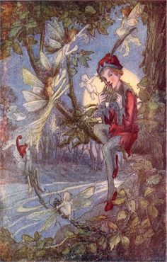 Enchant your kid's room with the Peter Pan and Fairies Vintage Wall Art which features Peter Pan himself and his fairy friends.   Delight your kid's room or nursery with this enchanting vintage wall art!