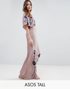 ASOS TALL Premium Maxi Dress With Embroidery