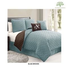 5-Piece Set: Victoria Classics Reversible Quilt Collection - Assorted Colors at 73% Savings off Retail!