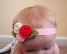 felt-flower-baby-headband-3.. Free tutorial!!