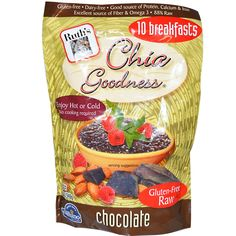 Ruth's Hemp Foods, Chia Goodness, Chocolate, 12 oz (340 g)