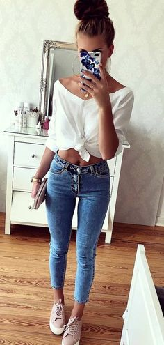 Awesome Spring Outfits To Inspire You - Summer Outfits Inspired Outfits, Chic Outfits, Trendy Outfits, Fashion Outfits, Night Outfits, Moda Fashion, Teen Fashion, Spring Fashion, Cute Summer Outfits