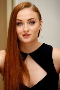 Sophie Turner - Game Of Thrones Season 5 Press Conference in Beverly Hills Beautiful Redhead, Beautiful Celebrities, Beautiful Actresses, Beautiful Women, Sophie Turner, Sansa Stark, Jean Grey, Beverly Hills, Redheads