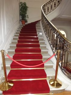 Plain Solid Colored Red Stair Carpet Runner For Private Of Official Buildings