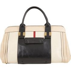 Chloe - Medium Leather Tote Alice Beige and Black - $1,979.00 (48% off)