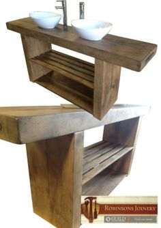 Vanity Unit Wash Stand Sink Basin Solid Oak Bespoke Rustic Jacobean Finish unit wash stand sink basin solid oak bespoke rustic finish