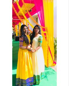 Yellow and blue Long Gown Dress, Sari Dress, Anarkali Dress, Dress Skirt, Long Dress Design, Dress Designs, Blouse Designs, Long Frocks For Girls, Party Wear Long Gowns