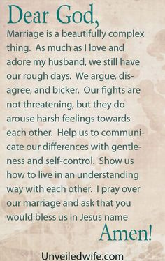 Fighting In Marriage Without Being Mean --- Dear Lord, Marriage is a beautifully complex thing. As much as I love and adore my husband, we still have our rough days. We argue, disagree, and bicker. Our fights are not threatening, but they do arouse harsh feelings towards… Read More Here http://unveiledwife.com/fighting-in-marriage-without-being-mean/