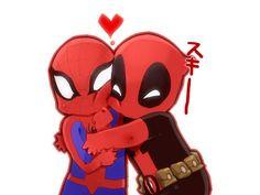 Deadpool and Spiderman <3