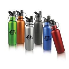 24 oz Aluminum sports bottle with new user-friendly sport cap. Fits most cup holders. Opening is wide enough for most ice cubes and cleaning brushes. $4.42