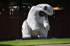 A Walk Around The Legislative Building - So I Was Thinking Bear Statue, Monuments, Polar Bear, Statues, Flag, Bird, Architecture, Building, Animals