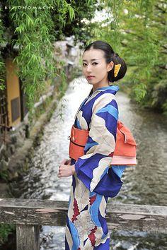 Omoto -navy- #Kimono