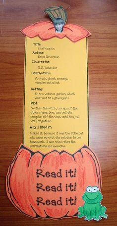 Classroom Freebies: Common Core Pumpkin Craftivities For Reading