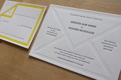 interesting letterpress invitations from Moontree Letterpress