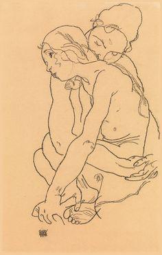 Drawings of Egon Schiele. Two Women Embracing, Fine Art Print The Drawings of Egon Schiele. Two Women Embracing, Fine Art PrintThe Drawings of Egon Schiele. Two Women Embracing, Fine Art Print Life Drawing, Figure Drawing, Drawing Sketches, Painting & Drawing, Art Drawings, People Drawings, Pencil Drawings, Fine Art Drawing, Art And Illustration