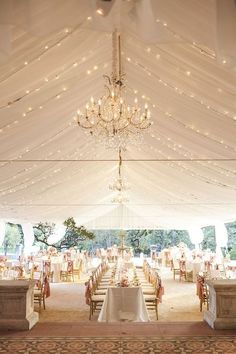 Beautiful wedding tent.