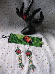 "Bracelet, earrings and ring Toho Beads 11 Swarovski ,creative,, lena-style -creation""... """