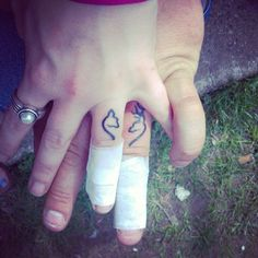 "6 Likes, 1 Comments - Jennifer (@j123bugs) on Instagram: ""#EngagementRingTattoo #BrowningBuckHeart #MyBetterHalf #Love #Wedding"""