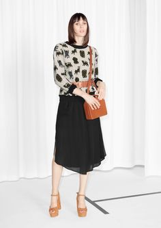 Skirts - & Other Stories All Silhouettes, Work Skirts, Skirts With Pockets, Midi Skirt, Ready To Wear, High Waisted Skirt, Clothes For Women, Womens Fashion, Pink