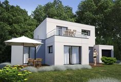 Rendu 5 de la maison individuelle Habitat Concept 82 Style At Home, Construction, Good Company, Home Fashion, Architecture, Shed, Outdoor Structures, How To Plan, Mansions