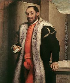 Cod Piece-a decorative pocket of a man's breeches. 1570 Giovanni Battista Moroni
