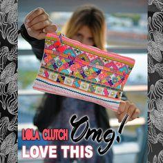 ULTIMA EN STOCK  LOLA CLUTCH  #baiga #bags #purse #clutch #color #fluor #cool #moda #fashion #style #hindu #bordado #fabulous