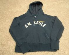 American Eagle Outfitters Blue Hoodie Junior Girls Size Medium