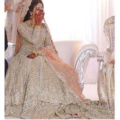 pakistani wedding dresses Gorgeous jacket style bridal lehenga with zarkan work all over. Asian Bridal Dresses, Pakistani Wedding Outfits, Indian Bridal Outfits, Pakistani Bridal Dresses, Pakistani Wedding Dresses, Indian Dresses, Pakistani Wedding Photography, Pakistani Clothing, Bridal Hijab