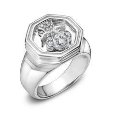 SLANE Bee Ring with Pavé Diamonds