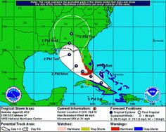 5 p.m Update: Tropical Storm Isaac