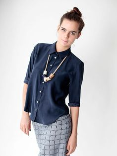 Collared Shirt - Navy by dusen dusen for Of a Kind