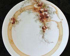 porcelain art/pinecones   Jean Pouyat Limoges France JPL Anti que Porcelain…