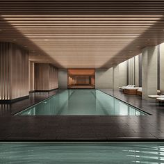 As the weather cools down, the indoor pools heat up. Here's a list of palatial indoor swimming spots to beat the cold in New York. Luxury Swimming Pools, Luxury Pools, Indoor Swimming Pools, Swimming Pool Designs, Hotel Swimming Pool, Lap Swimming, Inside Pool, Casa Patio, Spa Interior