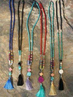 Festival Jewelry Tassel Necklace Beaded Turquoise by BohoCircus Tassel Jewelry, Bohemian Jewelry, Beaded Jewelry, Jewelery, Jewelry Necklaces, Boho Gypsy, Boho Hippie, Jewellery Box, Tribal Jewelry