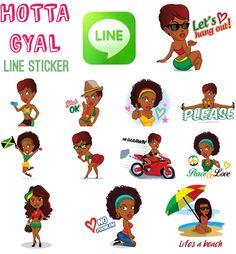 HOTTA GYAL #lineスタンプ #linesticker , Reggae , HIPHOP, fun-loving Divas. It's the sticker set you've been waiting for. These girls work hard and play hard just like you. Enjoy 彼女は、短い髪の、レゲエ、hip-hopが大好きな 愛に溢れる歌姫。毎日、様々な場面で彼女のステッカーを使おう。 Independent, Raggae, HIPHOP, fun-loving Divas. Das Sticker-Set, auf das Du gewartet hast! Diese Mädels feiern genauso hart wie sie arbeiten. Viel Spaß damit!