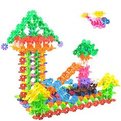 CINRA®380Pcs Snowflake Building Blocks Assembled Fight In…