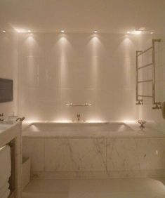 Luxury Bathroom Master Baths Wet Rooms is no question important for your home. Whether you choose the Small Bathroom Decorating Ideas or Luxury Bathroom Master Baths With Fireplace, you will make the best Luxury Master Bathroom Ideas for your own life. Bathroom Lighting, House Bathroom, Relaxing Bathroom, Bathtub Remodel, Bathroom Interior, Modern Bathroom, Amazing Bathrooms, Luxury Bathroom, Bathrooms Remodel