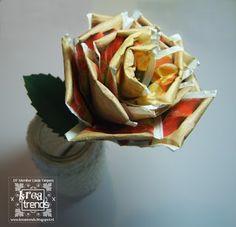 Kreatrends: Een roos van theezakjes.