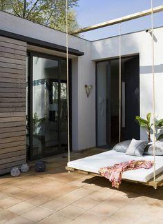 Swing on a terrace