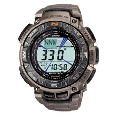 Casio Men's PAG240T-7CR Pathfinder Triple Sensor Multi-Function Titanium Watch | Overstock.com Shopping - Big Discounts on Casio Casio