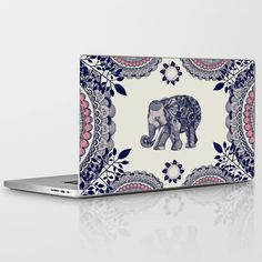 Elephant Pink Laptop & Ipad Skin by - MacBook / Pro / Air Elephant Gun, Elephant Room, Elephant Jewelry, Cute Elephant, Elephant Gifts, Elephant Stuff, Elephant Bedding, Indian Elephant, All About Elephants