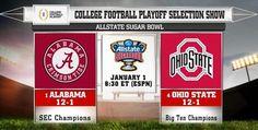 2015 Sugar Bowl. The University of Alabama Crimson Tide vs THE Ohio State University Buckeyes