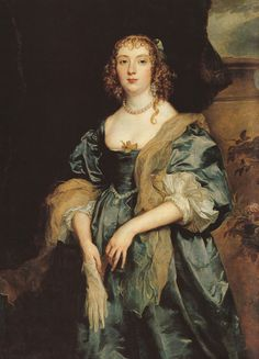Sir Anthony Van Dyck, Lady Anne Carr, Countess of Bedford, ca. 1638 @ Petworth House