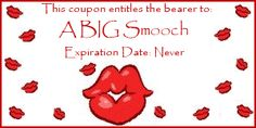 Love coupon for one big smooch.